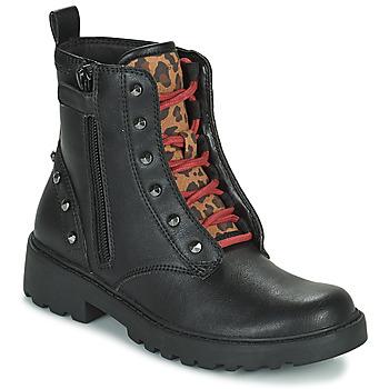 Čevlji  Deklice Polškornji Geox CASEY Črna