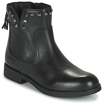 Čevlji  Deklice Polškornji Geox AGATO Črna