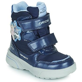 Čevlji  Deklice Škornji za sneg Geox SVEGGEN ABX Modra