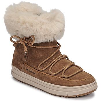 Čevlji  Deklice Polškornji Geox REBECCA WPF Kamel