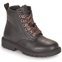 Čevlji  Deklice Polškornji Geox SHAYLAX Črna