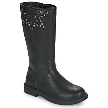Čevlji  Deklice Mestni škornji    Geox ECLAIR Črna