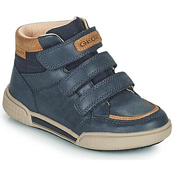 Čevlji  Dečki Visoke superge Geox POSEIDO Modra