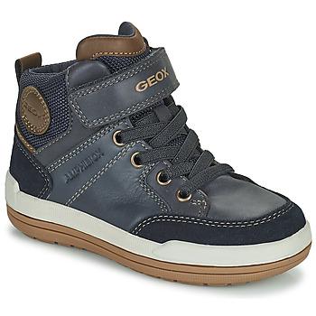 Čevlji  Dečki Polškornji Geox CHARZ ABX Modra