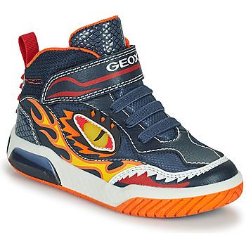 Čevlji  Dečki Visoke superge Geox INEK Rdeča