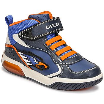 Čevlji  Dečki Visoke superge Geox INEK Modra / Oranžna