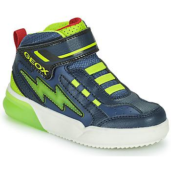 Čevlji  Dečki Visoke superge Geox GRAYJAY Zelena