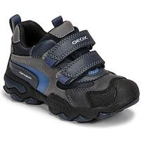 Čevlji  Dečki Polškornji Geox BULLER ABX Siva