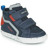 Čevlji  Dečki Visoke superge Geox KILWI Modra