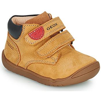 Čevlji  Dečki Polškornji Geox MACCHIA Kostanjeva