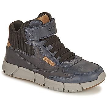 Čevlji  Dečki Polškornji Geox FLEXYPER Kamel