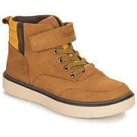 Čevlji  Dečki Polškornji Geox RIDDOCK WPF Kamel