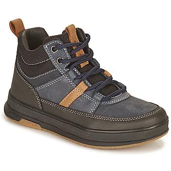 Čevlji  Dečki Polškornji Geox ASTUTO Modra