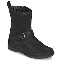 Čevlji  Deklice Mestni škornji    Geox SHAWNTEL Črna