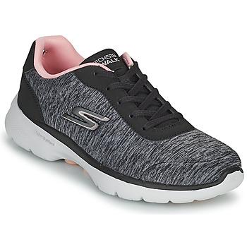 Čevlji  Ženske Nizke superge Skechers GO WALK 6 Siva / Rožnata