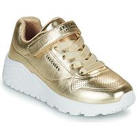 Čevlji  Deklice Nizke superge Skechers UNO LITE Pozlačena