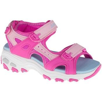 Čevlji  Otroci Sandali & Odprti čevlji Skechers Dlites Svetlo modra, Roza