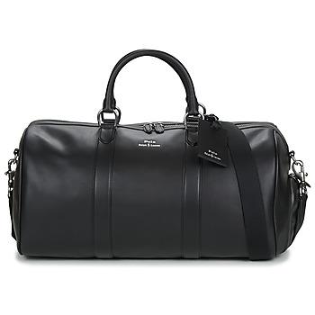 Torbice Moški Potovalne torbe Polo Ralph Lauren DUFFLE DUFFLE SMOOTH LEATHER Črna