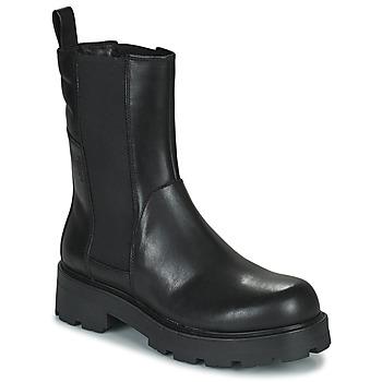 Čevlji  Ženske Polškornji Vagabond Shoemakers COSMO 2.1 Črna