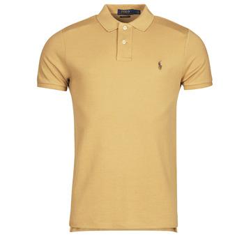 Oblačila Moški Polo majice kratki rokavi Polo Ralph Lauren PETRINA Kamel