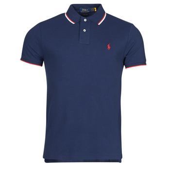 Oblačila Moški Polo majice kratki rokavi Polo Ralph Lauren CALMIRA Modra