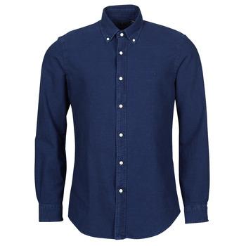 Oblačila Moški Srajce z dolgimi rokavi Polo Ralph Lauren TRENNYB Velvet / Modra