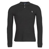 Oblačila Moški Polo majice dolgi rokavi Polo Ralph Lauren MOLINA Črna