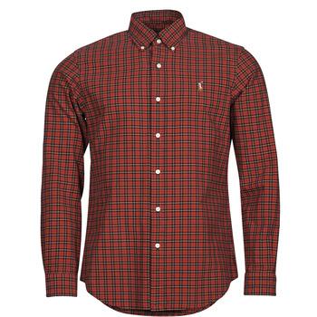 Oblačila Moški Srajce z dolgimi rokavi Polo Ralph Lauren TALIKA Rdeča / Večbarvna