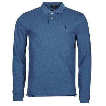 Oblačila Moški Polo majice dolgi rokavi Polo Ralph Lauren KETINA Modra / Royal