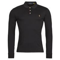 Oblačila Moški Polo majice dolgi rokavi Polo Ralph Lauren PERINA Črna