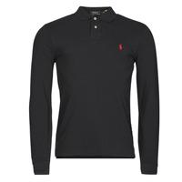 Oblačila Moški Polo majice dolgi rokavi Polo Ralph Lauren TREKINA Črna