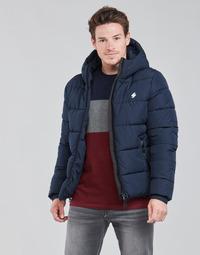Oblačila Moški Puhovke Superdry HOODED SPORTS PUFFER Modra