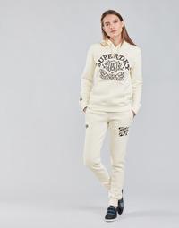 Oblačila Ženske Spodnji deli trenirke  Superdry PRIDE IN CRAFT JOGGER Kremno bela