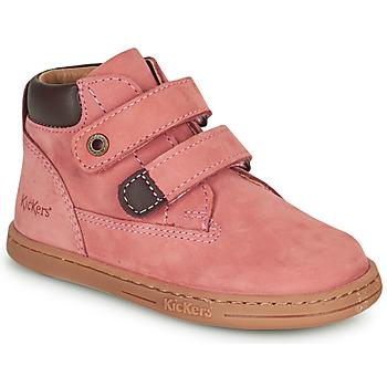 Čevlji  Deklice Polškornji Kickers TACKEASY Rožnata
