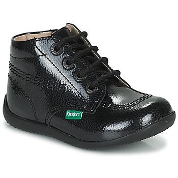Čevlji  Deklice Polškornji Kickers BILLISTA ZIP Črna