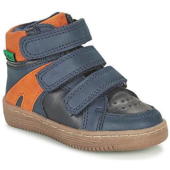 Čevlji  Dečki Polškornji Kickers LOGGAN Oranžna