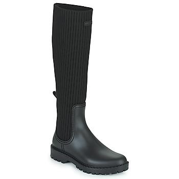 Čevlji  Ženske škornji za dež  Unisa ALERCE Črna