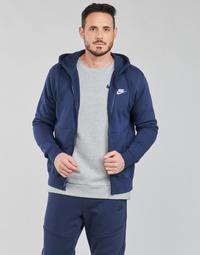 Oblačila Moški Puloverji Nike NIKE SPORTSWEAR CLUB FLEECE Modra / Bela