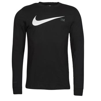 Oblačila Moški Majice z dolgimi rokavi Nike M NSW TEE LS GRX TEE Črna