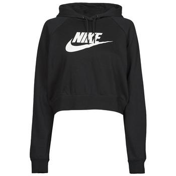 Oblačila Ženske Puloverji Nike NIKE SPORTSWEAR ESSENTIAL Črna / Bela