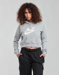 Oblačila Ženske Puloverji Nike NIKE SPORTSWEAR ESSENTIAL Siva / Bela
