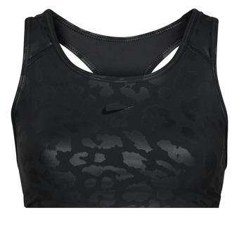 Oblačila Ženske Športni nedrčki Nike W NP DF SWSH LEPARD SHINE BRA Črna