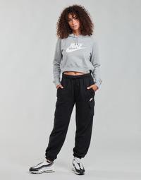 Oblačila Ženske Spodnji deli trenirke  Nike W NSW ESSNTL FLC MR CRGO PNT Črna / Bela