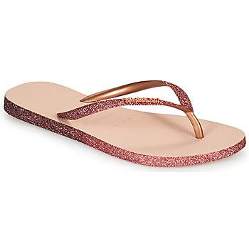 Čevlji  Ženske Japonke Havaianas SLIM SPARKLE II Rožnata