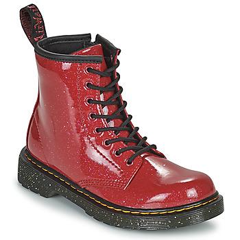 Čevlji  Deklice Polškornji Dr Martens 1460 J Rdeča