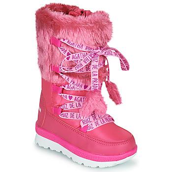 Čevlji  Deklice Škornji za sneg Agatha Ruiz de la Prada APRESKI Rožnata