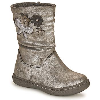 Čevlji  Deklice Mestni škornji    Chicco CAROL Srebrna