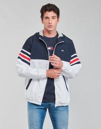 Oblačila Moški Jakne Tommy Jeans TJM COLORBLOCK ZIPTHRU Modra / Bela / Rdeča