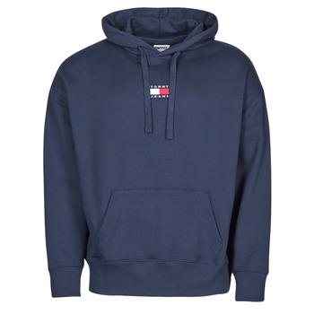 Oblačila Moški Puloverji Tommy Jeans TJM TOMMY BADGE HOODIE Modra