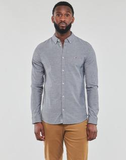 Oblačila Moški Srajce z dolgimi rokavi Tommy Jeans TJM STRETCH OXFORD SHIRT Črna